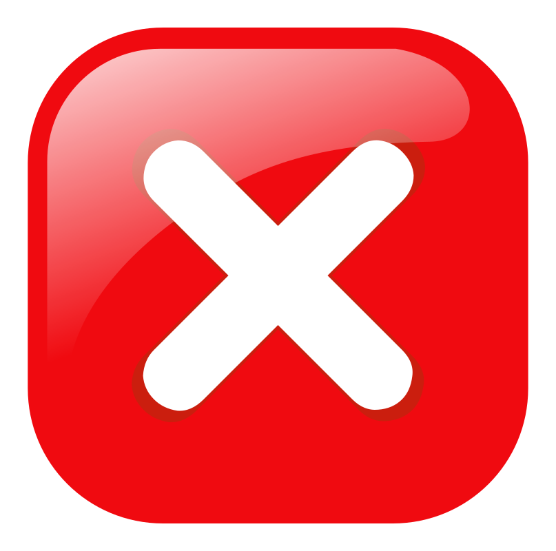 x delete button png