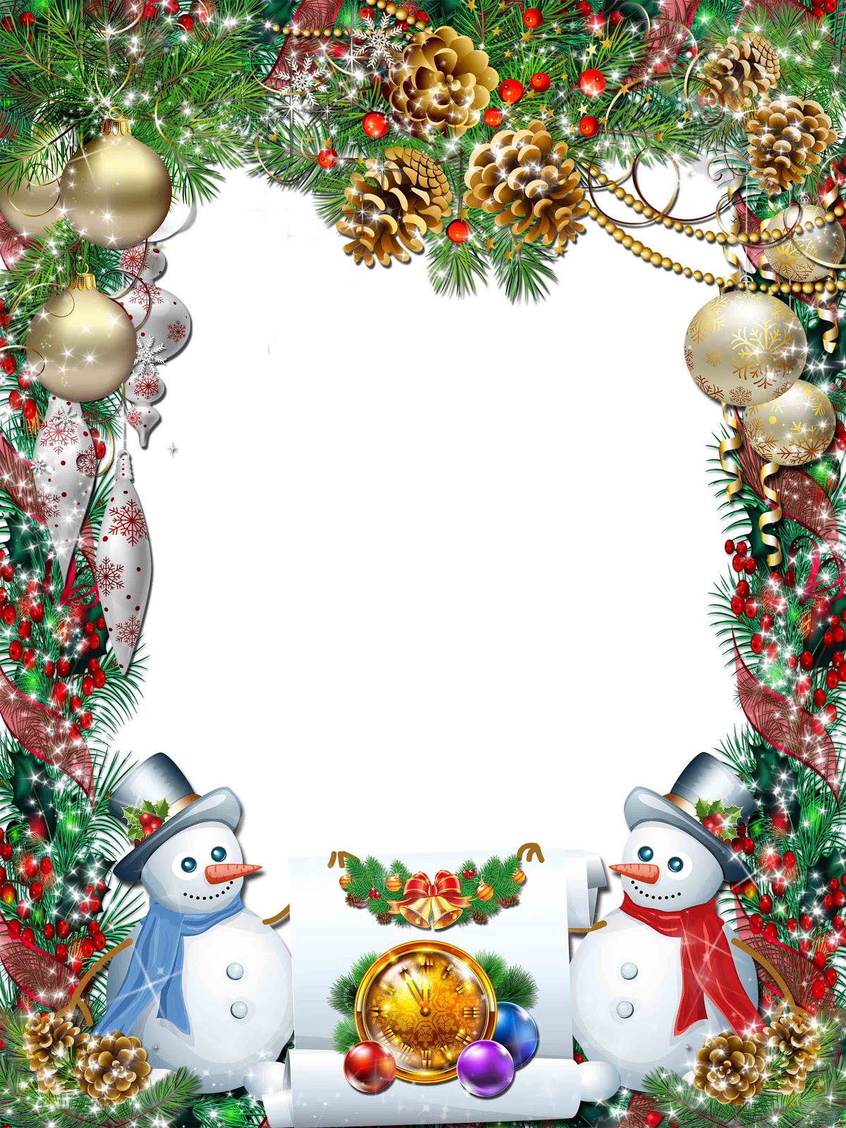 Xmas Frame Transparent PNG Pictures - Free Icons and PNG Backgrounds