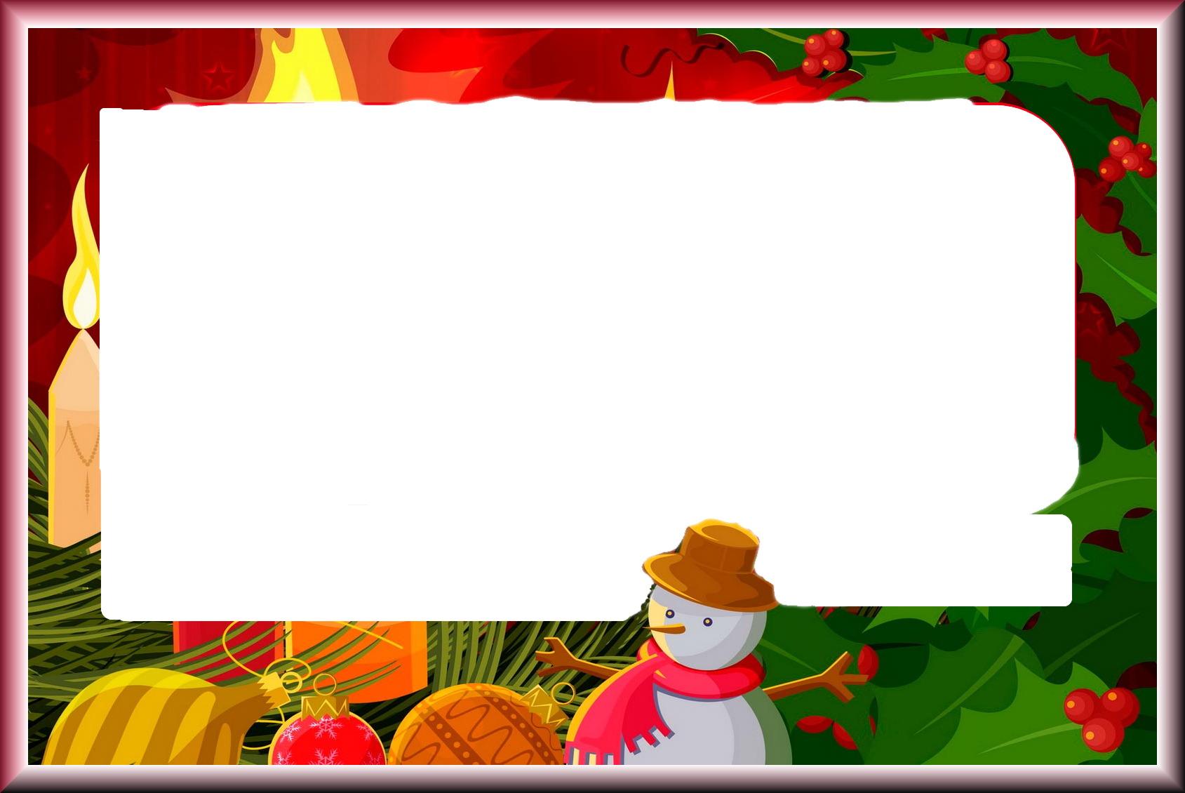 Xmas Frame Png - Free Icons and PNG Backgrounds