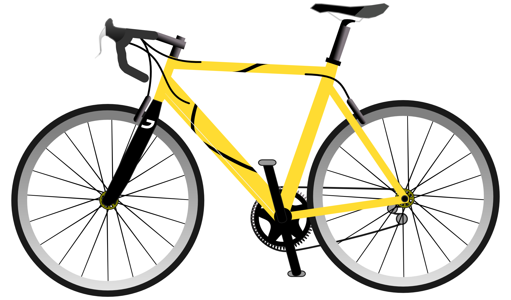 yellow, bike, bicycle clipart png