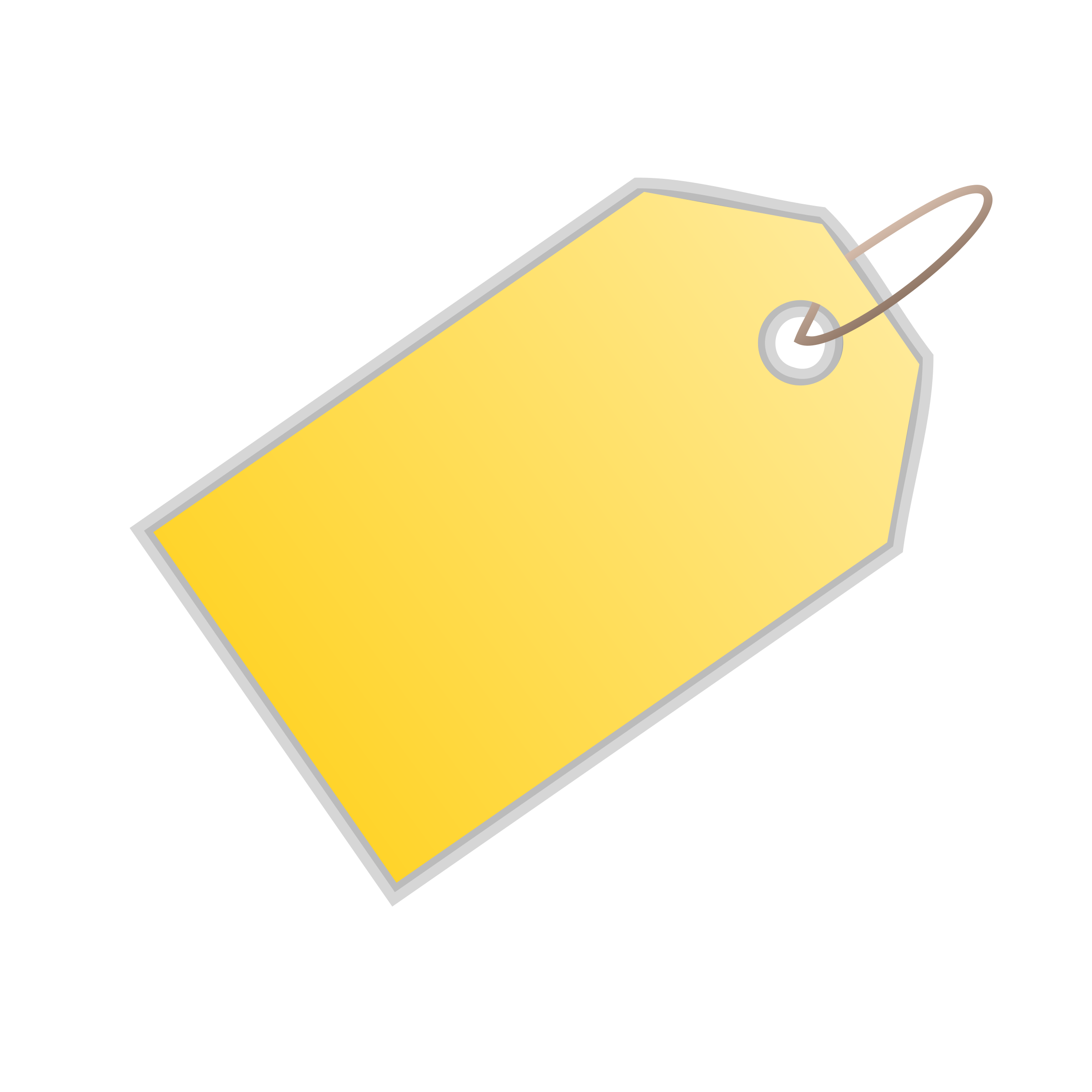 Yellow Blank Price Tag Png