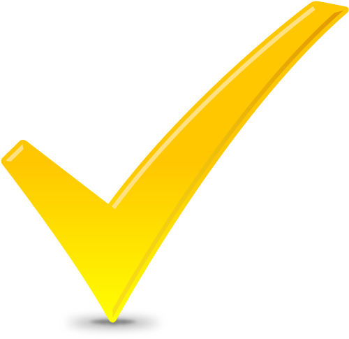 Yellow Check Tick Icon image #14179