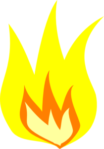 Yellow Fire HD PNG image #15105
