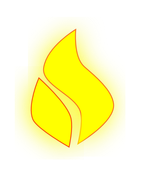 Yellow Flame Png image #15103