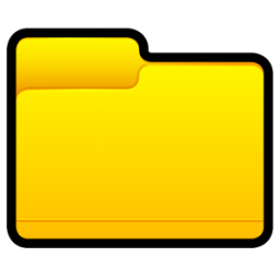 Yellow Folder Directory Icon Png image #12390