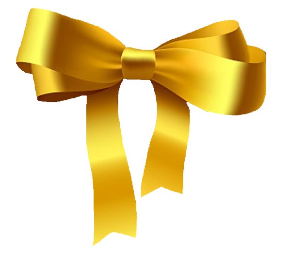 Yellow HD Bow PNG image #44515