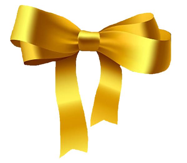 Yellow HD Bow PNG image #44515