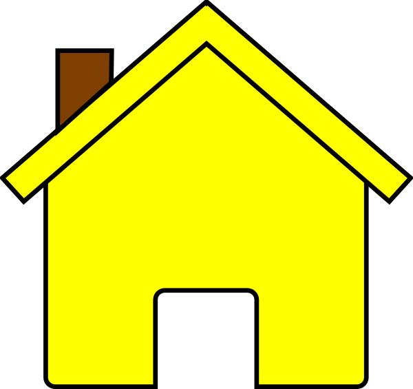 Yellow House Clip Art Png