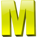 Yellow Letter M Icon Png image #10562