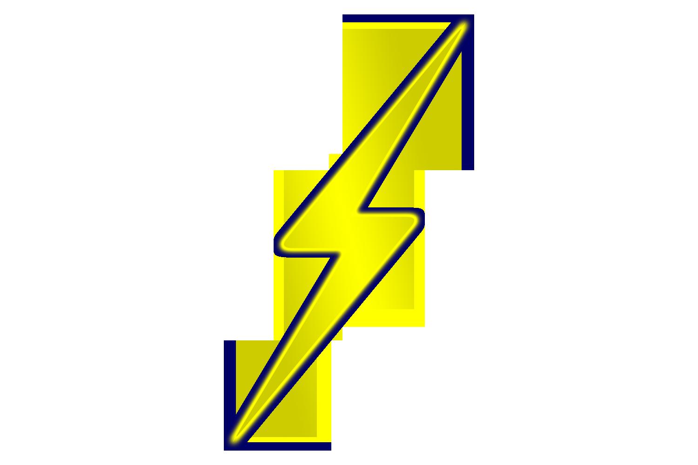Yellow Lightning Bolt Background