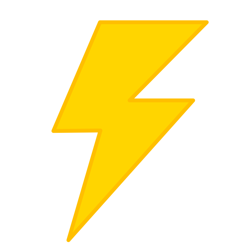 Yellow Lightning Bolt Clipart