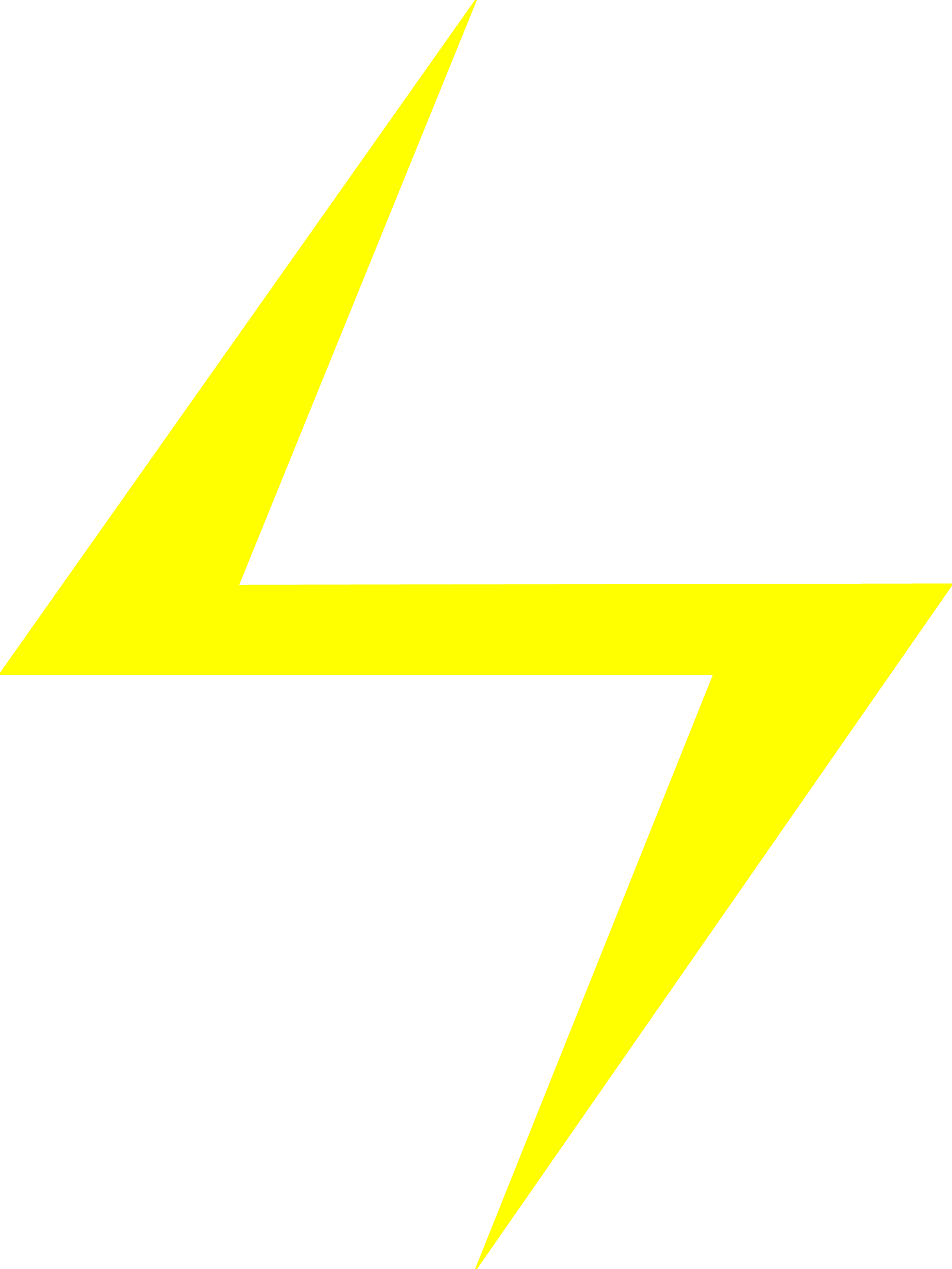 Yellow Lightning Bolt Clipart image #44050
