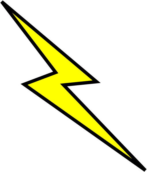 Yellow Lightning Bolt Png image #34126