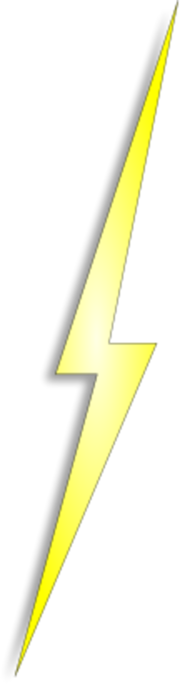 Yellow Lightning Electricity Bolt Thunder
