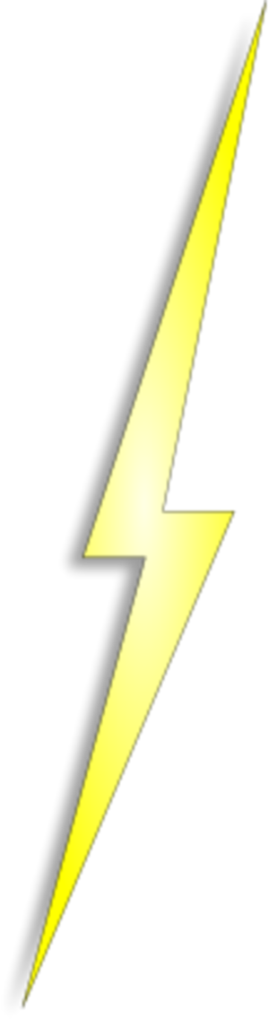 Yellow Lightning Electricity Bolt Thunder Lightning   image #44059