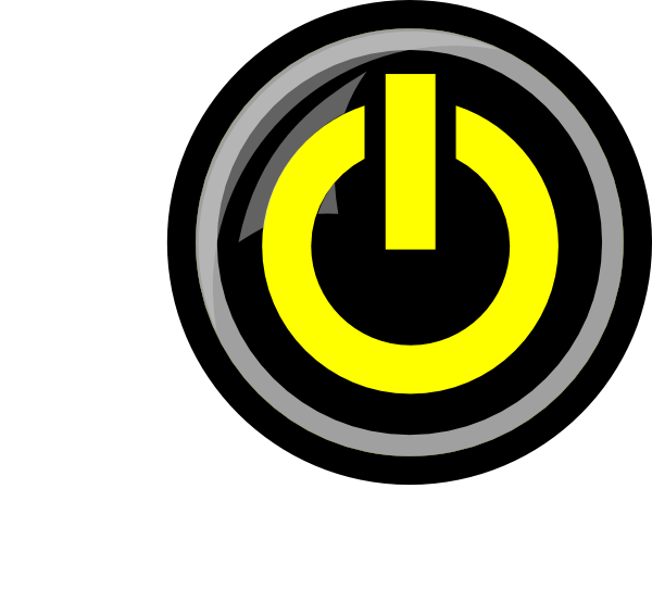 Yellow Power Button Icon image #16035