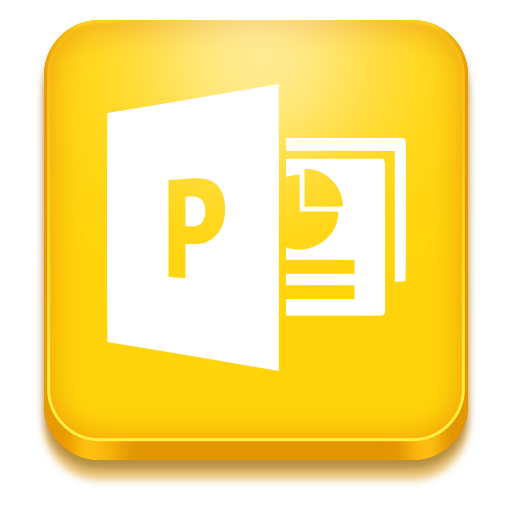 Yellow Powerpoint Icon image #43942