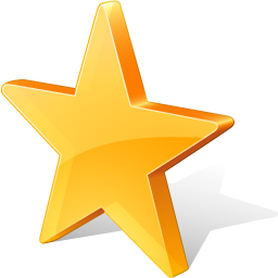 yellow star favorite icon