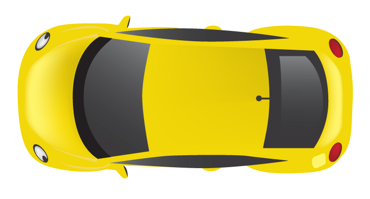 Yellow Top car png