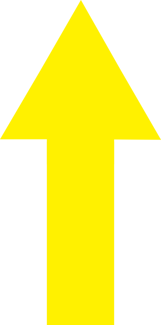 Yellow Up Arrow Png image #27158