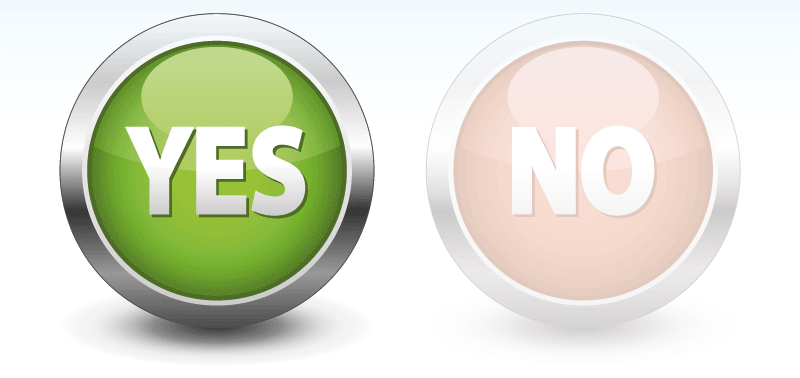 Yes No Button Png image #39567