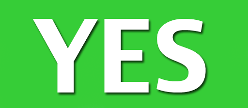 Yes PNG Transparent image #39577