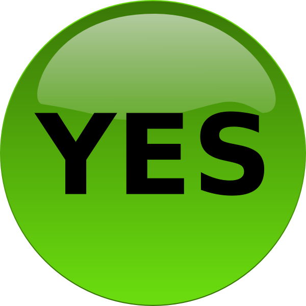Yes Png Clipart Download image #39553
