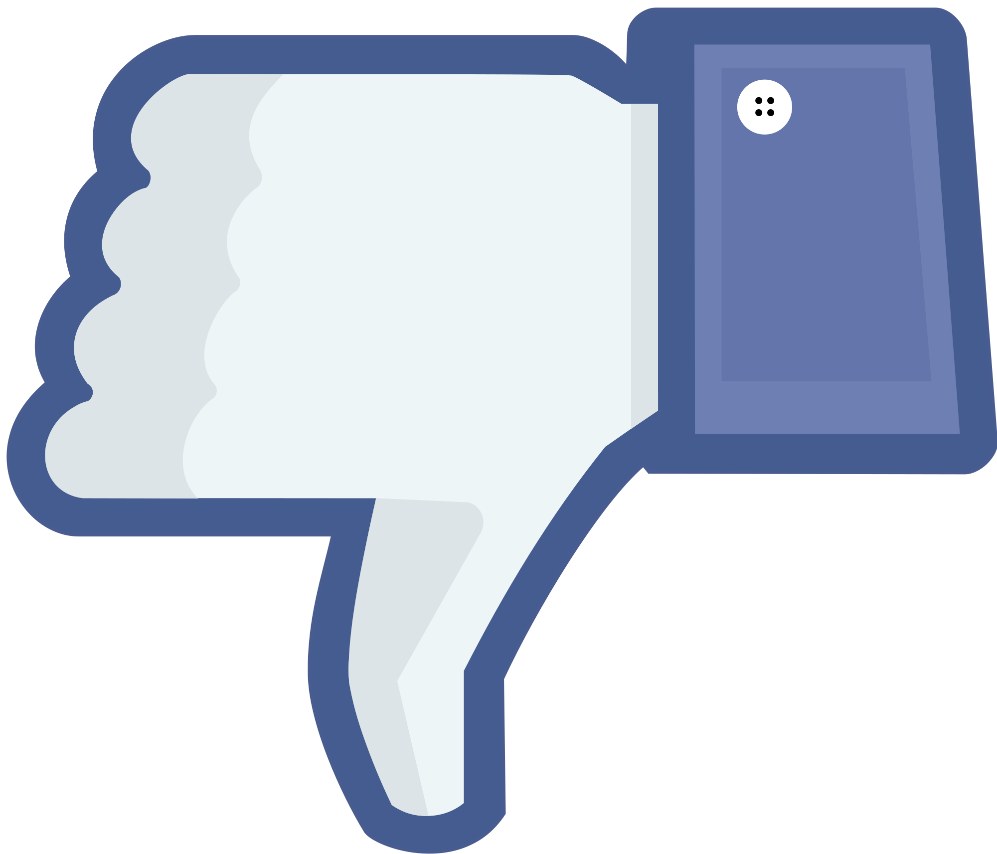 Youtube Dislike, Facebook, Thumbs Down, Not Like Png image #45964