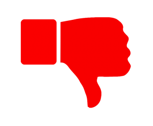 Youtube Dislike Png Red Clipart image #45961