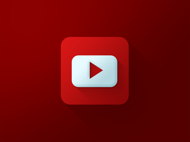 Youtube Icon By Usama Awan  Dribbble image #42012